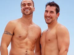 Two muscular Gay Match Maker members interested in dating and relationships.